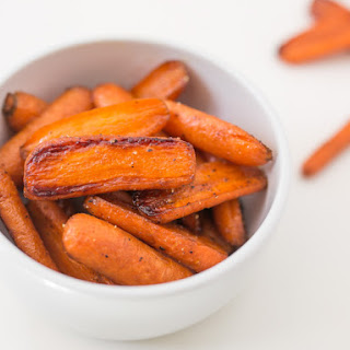 Brown Sugar Roasted Baby Carrots.