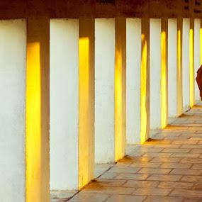 The Monk on the light by Roberto Nencini - People Street & Candids ( temple, myanmar, monk, asia, birmania, burma )