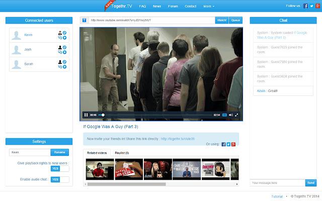 Togethr.TV - Watch videos together!
