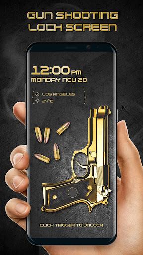 Gun shooting lock screen screenshot 3