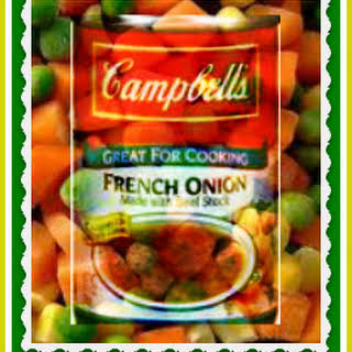 Shortcut French Onion-Vegetable Soup.