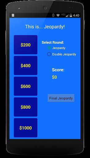 Score Keeper for Jeopardy