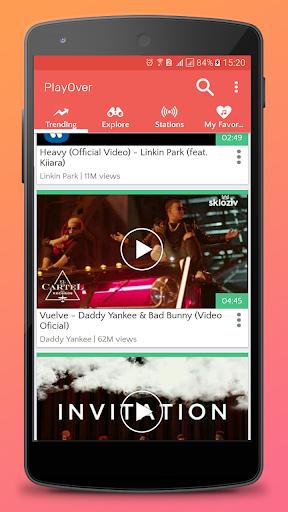 PlayOver for Youtube : play tube and music radio 1.0.5 screenshots 5