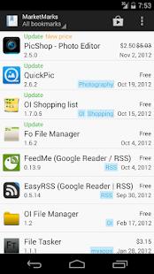 MarketMarks (App Bookmarks) - screenshot thumbnail