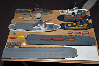 Photo: Range of parts, boats, barges and ships being produced
