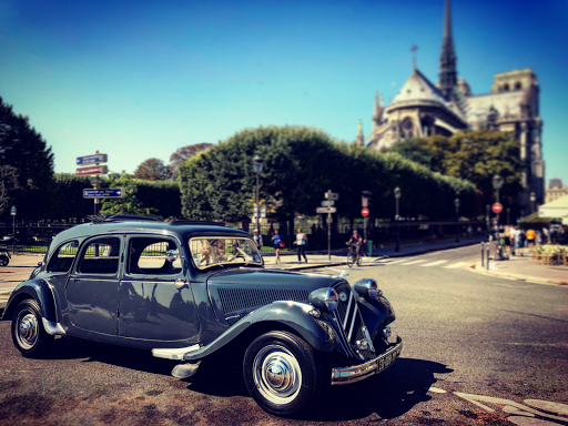 Sightseeing in Paris in a car collection