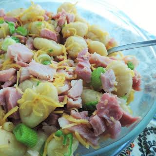 Pantry Raid! Ham & Sweet Potato Gnocchi Bake.