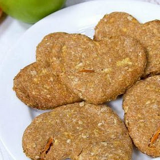 How to Make Apple Carrot Dog Biscuits.