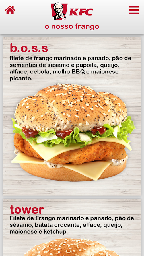 KFC Portugal- screenshot
