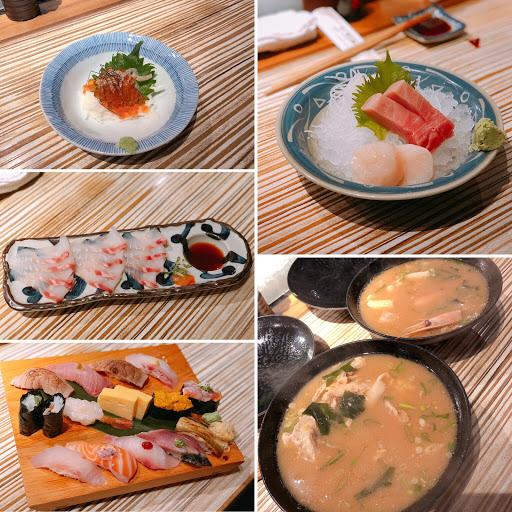 在日本沒吃到壽司🍣 回來補一下❤️  台灣黑鮪魚肚好吃😋  鯛魚薄切的醬汁是柑橘味的好清爽❤️ 還有暖暖的蝦頭味增湯✨✨  #餐食記錄 #壽司 #生魚片 #三井上引水產 #握壽司 #台北美食