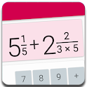 Fractions - calculate and compare icon