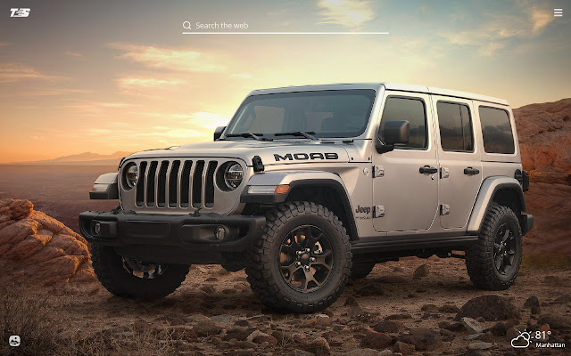 Jeep Wrangler HD Wallpaper New Tab Theme
