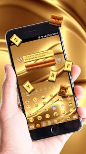 Gold Silk Luxury Keyboard Theme - náhled