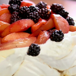 Spiced Blackberry, Quince and Apple Pavlova.