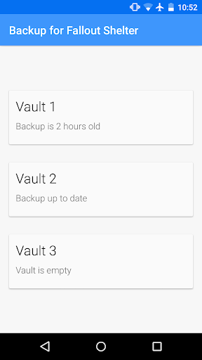Backup for Fallout Shelter