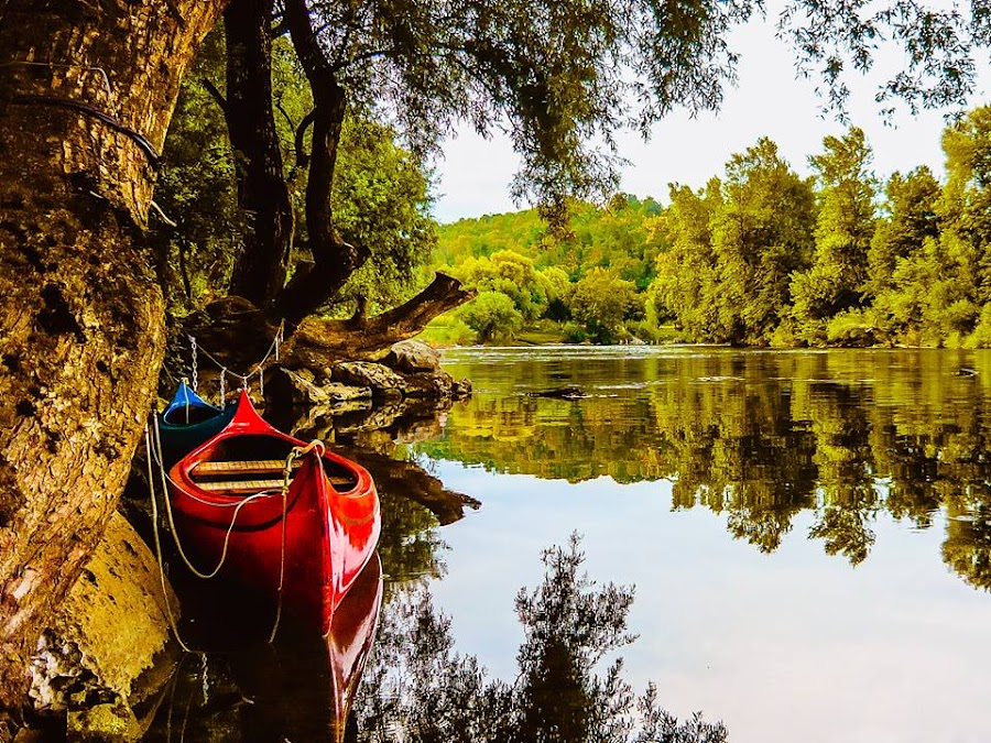 River and boats by Mursida Musić - Landscapes Waterscapes
