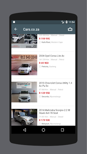 used cars south africa screenshot 1