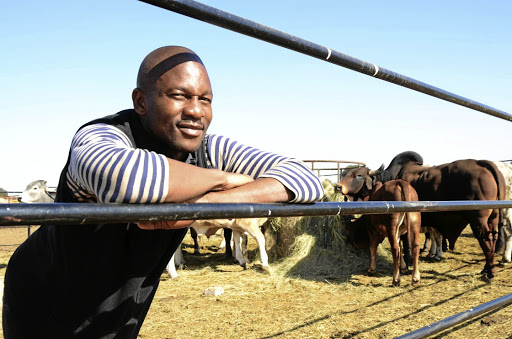 Platinum Stars player Gift Sithole has developed a passion for farming.