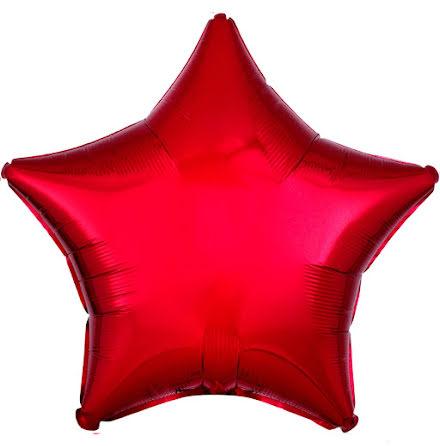 Folieballong, stjärna metallic röd 48 cm