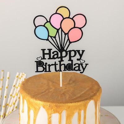 Топпер на торт «Счастливого дня рождения. Шары», 22×10 см