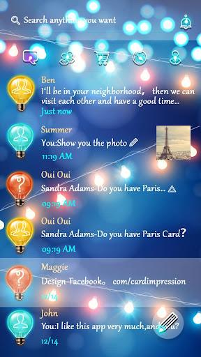GO SMS PRO BULBS THEME|玩個人化App免費|玩APPs