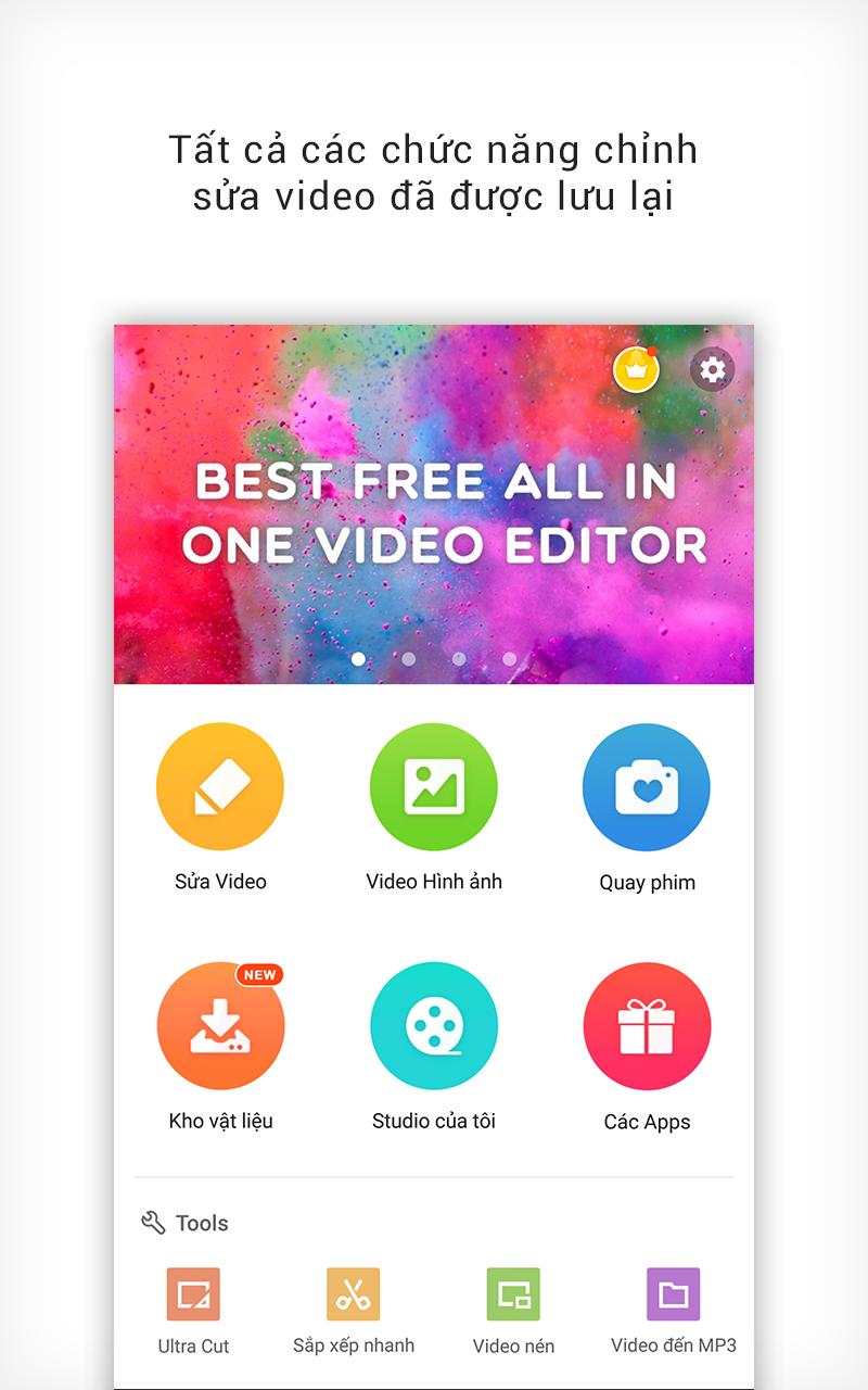 VideoShowLite: Trình chỉnh sửa video, cắt,ảnh,nhạc v8.4.2 [Premium]