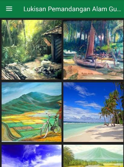 Lukisan Pemandangan Alam Android Apps Google Play Screenshot Gambar Anak