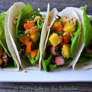Spicy Orange Beef Tacos.