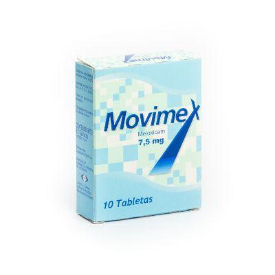 Meloxicam Movimex 7,5 mg x 10 Tabletas Oftalmi 7,5 mg x 10 Tabletas