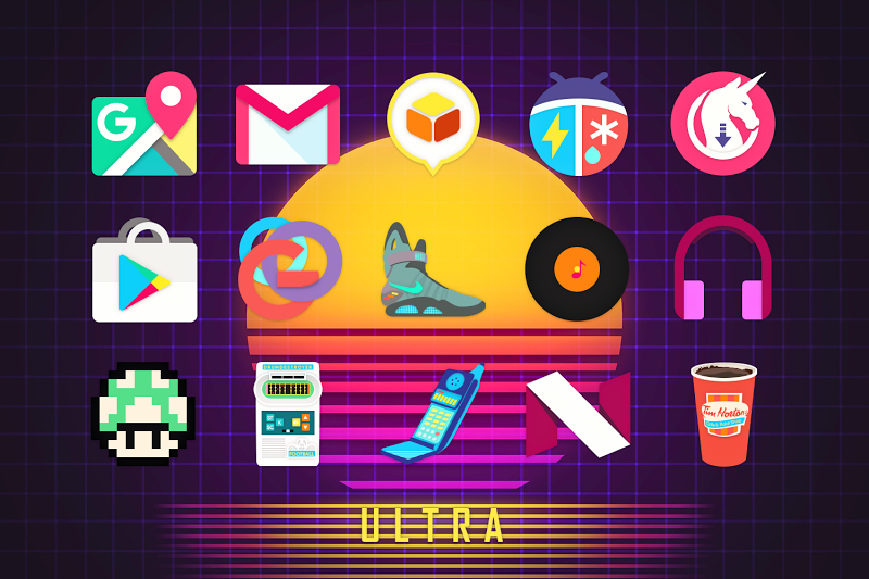 ULTRA - 80s Vaporwave Icon Pack Screenshot 8