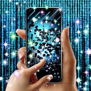 Blue tech live wallpaper - náhled