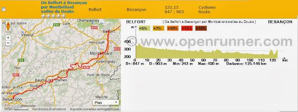 Photo: Belfort - Besançon par la vallée du Doubs
