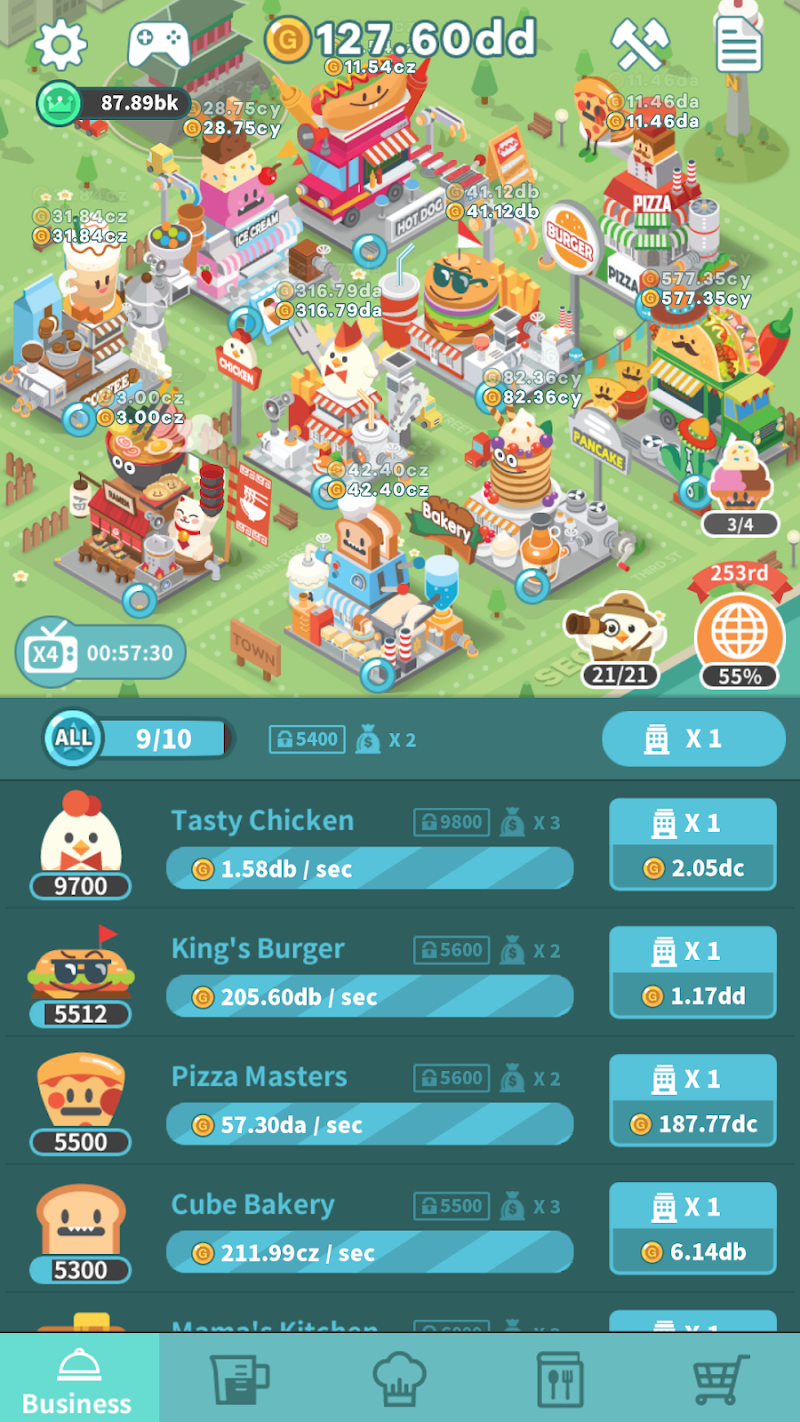 Free Download Foodpia Tycoon - Idle restaurant Cheat APK MOD