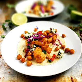 Roasted Chickpea & Cauliflower Tacos