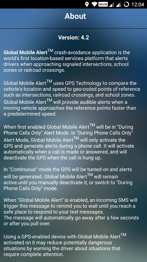 Global Mobile Alert- screenshot