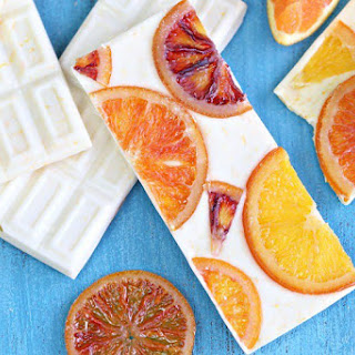 Candied Orange White Chocolate Bars.