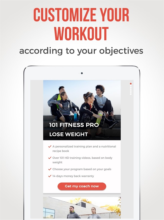 Personal coach and fit plan at home - 101 Fitness- screenshot