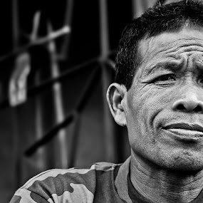 Undaunted by Rana Dasgupta - People Portraits of Men ( black and white )