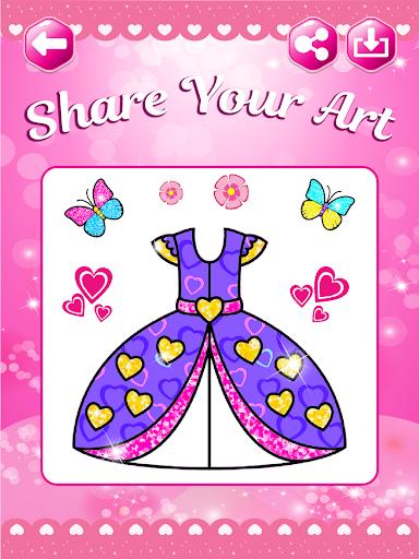 Glitter beauty coloring and drawing screenshot 15