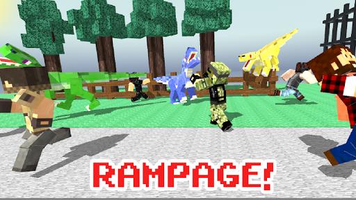 Blocky Dino Park: Raptor Attack 0.10 de.gamequotes.net 3