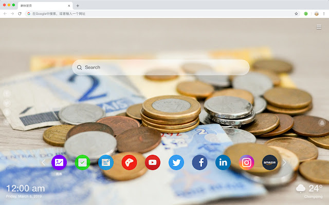 Currency New Tab Page HD Top Themes