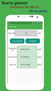 kw to hp convert calculator apps on google play. Black Bedroom Furniture Sets. Home Design Ideas
