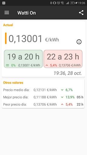 Watti On (Precio Luz) screenshot