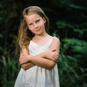 My little girl by Andy Snider - Babies & Children Child Portraits ( little girl, girl, dress, 2015, summer, cute, portraits, portrait )