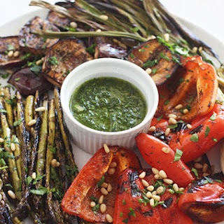 Simply Grilled Vegetables with a Garlic Herb Dipping Oil Recipe