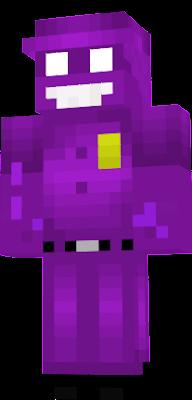 майнкрафт скин фиолетового парня #10