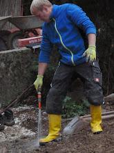 Photo: Chef macht schon mal die Stiefel sauber