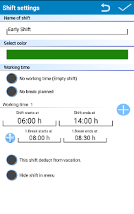Shift Planer Lite- screenshot thumbnail