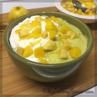 Avocado Fruit Smoothie Bowl.