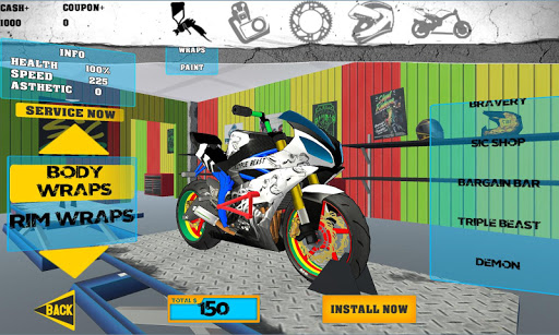 Stunt Bike Freestyle apkpoly screenshots 4